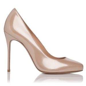 LK Bennett Black Ribbon Amy Nude heel 49